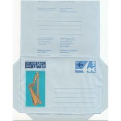 پاکت نامه هوائی6 پنس  - آئروگرام طراحی David H. - انگلستان