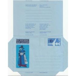 پاکت نامه هوائی 6 پنس  - آئروگرام طراحی Douglas Halliday - انگلستان