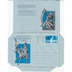 پاکت نامه هوائی 10/5 پنس  - آئروگرام طراحی Jennifer Campbell - انگلستان