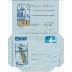 پاکت نامه هوائی 10/5 پنس  - آئروگرام طراحی David H. Evans - انگلستان