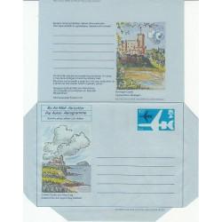 پاکت نامه هوائی 10/5 پنس  - آئروگرام طراحی Ruari McLean - انگلستان