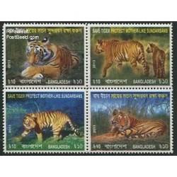 4 عدد تمبر حفاظت از ببرها - بنگلادش 3013