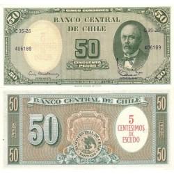 اسکناس 50 سنتسیموس - شیلی 1960 تک