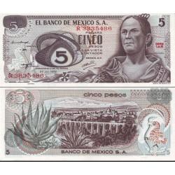 اسکناس 5 پزو - مکزیک 1972 تک