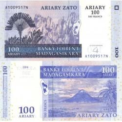 اسکناس 100 آریاری - ماداگاسکار 2004 تک