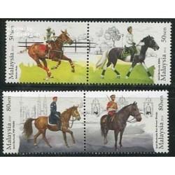 4 عدد تمبر اسبها - مالزی 2014