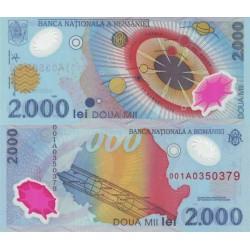 اسکناس پلیمر 2000 لی - رومانی 1999