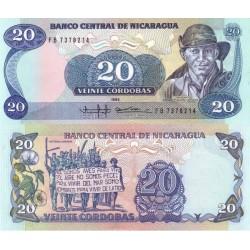 اسکناس 20 کردوباس - نیکاراگوئه 1985