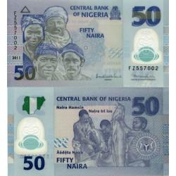 اسکناس پلیمر 50 نایرا - نیجریه 2013