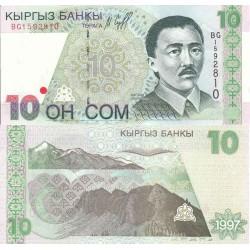 اسکناس 10 سام - قرقیزستان 1997