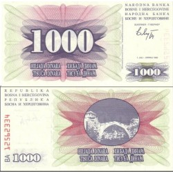 اسکناس 1000 دینار - بوسنی و هرزگوین 1994