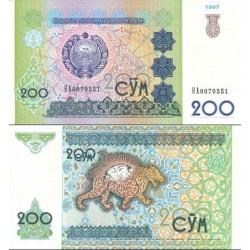 اسکناس 200 سام - ازبکستان 1997