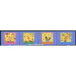 4 عدد تمبر فرمانهای نظامی - ماکائو 1998