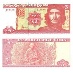 اسکناس 3 پزو - کوبا 2004 با تصویر چه گوارا