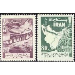 1065 - تمبر افتتاح راه آهن تهران - تبریز 1337