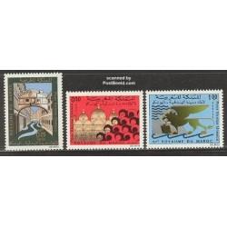 3 عدد تمبر اقدامات یونسکو برای حفاظت از ونیز - مراکش 1972