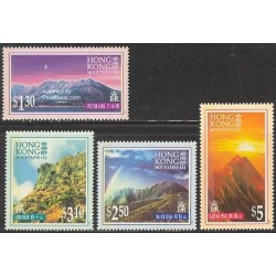4 عدد تمبر کوهستان - هنگ کنگ 1996