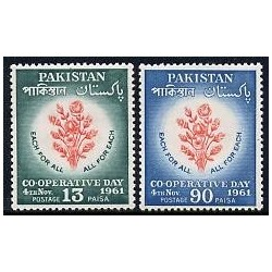 2 عدد تمبر روز همکاری - پاکستان 1961