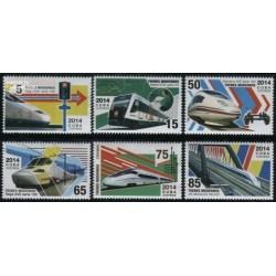 6 عدد تمبر حفاظت قطارهای مدرن - کوبا 2014