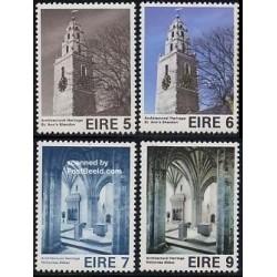 4 عدد تمبر معماری اروپائی - ایرلند 1975