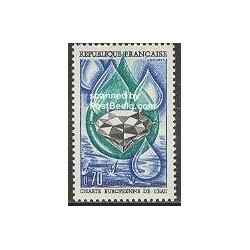 1 عدد تمبر مشترک با آندورا - حفاظت از آب اروپا - فرانسه 1969
