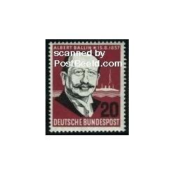 1 عدد تمبر آلبرت بالین - حمل و نقل - جمهوری فدرال آلمان 1957