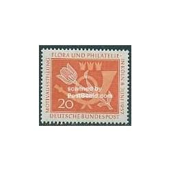 1 عدد تمبر گلها و تمبرشناسی - جمهوری فدرال آلمان 1957