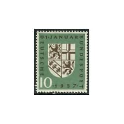 1 عدد تمبر سارلند - یکی از ایالات آلمان - جمهوری فدرال آلمان 1957