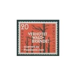 1 عدد تمبر حفاظت جنگلها از آتش سوزی - جمهوری فدرال آلمان 1958
