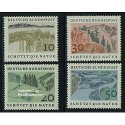 4 عدد تمبر حفاظت از طبیعت اروپائی - جمهوری فدرال آلمان 1969
