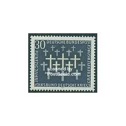 1 عدد تمبر آرامگاه نظامیان - جمهوری فدرال آلمان 1969
