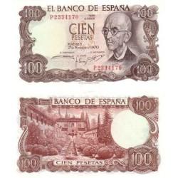 اسکناس 100 پزوتا - اسپانیا 1970
