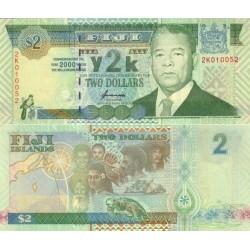 اسکناس 2 دلار - فیجی 2000