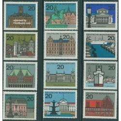 12 عدد تمبر شهرهای مرکز استانها - جمهوری فدرال آلمان 1964