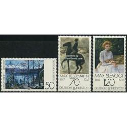 3 عدد تمبر تابلو نقاشی - سبک امپرسیونیسم - جمهوری فدرال آلمان 1978