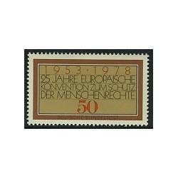 1 عدد تمبر حقوق بشر اروپائی - جمهوری فدرال آلمان 1978