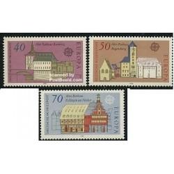 3 عدد تمبر مشترک اروپا - Europa Cept - معماری - جمهوری فدرال آلمان 1978