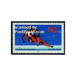 1 عدد تمبر ورزش اسکی - جمهوری فدرال آلمان 1978