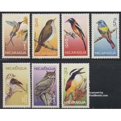 2 عدد تمبر پرندگان - نیکاراگوئه 1986