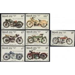 7 عدد تمبر قرن موتورسیکلتها - لائوس 1985