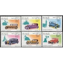 6 عدد تمبر اتومبیلها - لائوس 1982