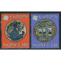 2 عدد تمبر مشترک اروپا - Europa Cept - فورکلور - نروژ 1981