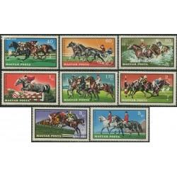 8 عدد تمبر ورزشهای سوارکاری - اسب سواری - مجارستان 1971