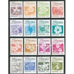 16 عدد تمبر گلها - نیکارارگوئه 1987