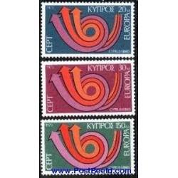3 عدد تمبر مشترک اروپا - Europa Cept - قبرس 1973