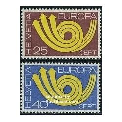 2 عدد تمبر مشترک اروپا - Europa Cept -سوئیس 1973