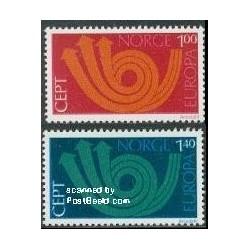 2 عدد تمبر مشترک اروپا - Europa Cept - نروژ 1973