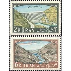 1151 - تمبر افتتاح سد سپید رود  1341