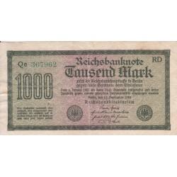 اسکناس 1000 مارک - رایش آلمان 1922 با کیفیت خوب - فیلیگران تصویر