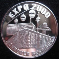 سکه یادبود نمایشگاه هانوفر آلمان 2000 با قاب مخصوص